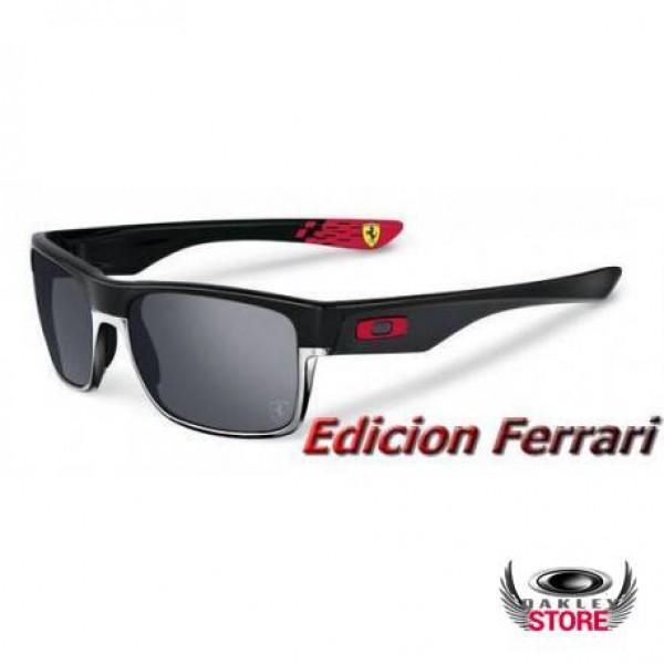 2cf8ad0999 Fake Oakley TwoFace Ferrari Matte Black   Black Iridium Factory ...